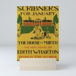 Affiche scribners for january   the house of mirth. 1905  Mini Art Print