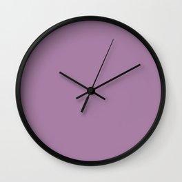 Palette . Dark purple Wall Clock