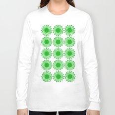 vintage flowers green Long Sleeve T-shirt