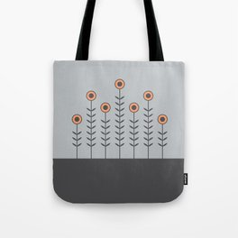 Spring Shoots (Charcoal Black, Dove Grey, Peach Rose) Tote Bag