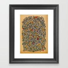 - fossils - Framed Art Print