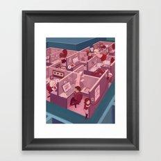 Office Romance Framed Art Print