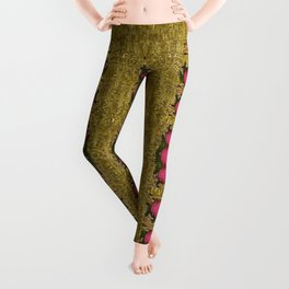 Bloom in gold shine and you shall be strong Leggings