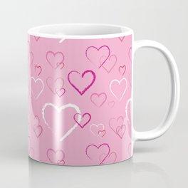 Pink Hearts Three Coffee Mug