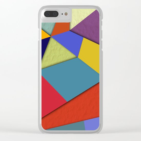 Abstract #207 Clear iPhone Case