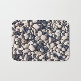 River stones on bank of Oregon river Bath Mat