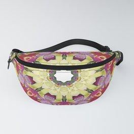 Abundantly colorful orchid mandala 1 Fanny Pack
