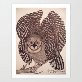 Owl The Native Messenger Art Print