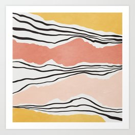 Modern irregular Stripes 01 Art Print
