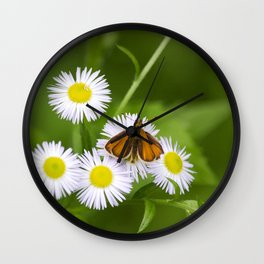 Little Orange Butterfly Wall Clock