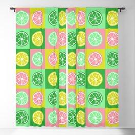 Pastel lemon colorful pop-art Blackout Curtain