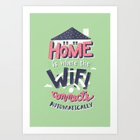 risa rodil Art Prints featuring Home Wifi by Risa Rodil