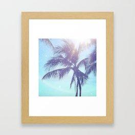 Sparkle Palms Framed Art Print