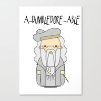 dumbledore Canvas Prints featuring A-DUMBLEDORE-ABLE.  by BeckiBoos