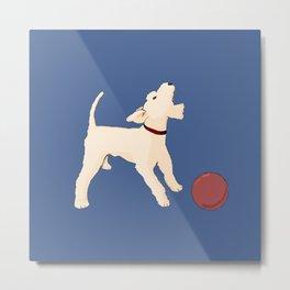 Terrier barking Metal Print