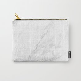 Classic White Marble Carry-All Pouch