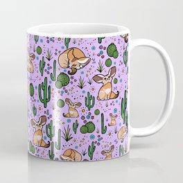 Fennec Foxes in Purple Coffee Mug