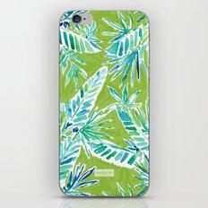 TROPICAL GREENERY iPhone & iPod Skin