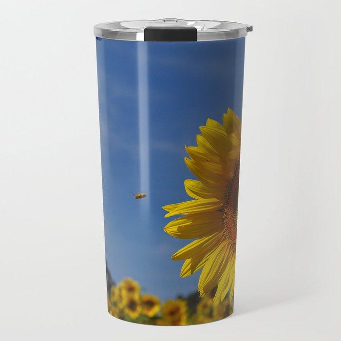 Summer Sunflower Soloist with backup chorus Travel Mug