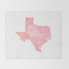 Texas Pink and Coral Bokeh Throw Blanket