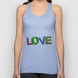 Colorful LOVE Unisex Tank Top