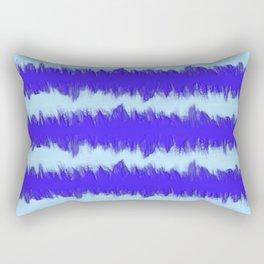 Two Tone Blue Wave Rectangular Pillow