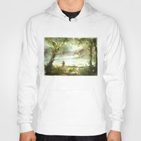 fishing Hoodies featuring Fishing by Baris erdem