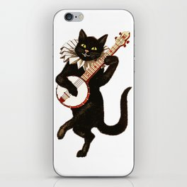 Black Halloween Cat for Decor and T Shirts iPhone Skin