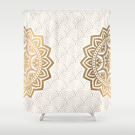 Gold Mandala 13 Shower Curtain