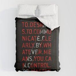 To Design by Milton Glaser Duvet Cover
