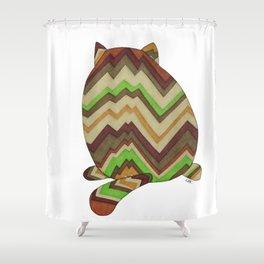 Fat Cat Butt Shower Curtain
