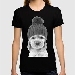 Black and White Cocker Spaniel T-shirt
