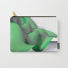 Waving Math Surface Green Carry-All Pouch
