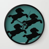 pony Wall Clocks featuring pony by gasponce