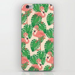Flamingo in Tropical Forest iPhone Skin