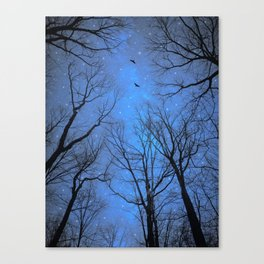 A Certain Darkness Is Needed (Night Trees Silhouette) Canvas Print