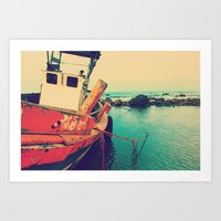boat Art Prints featuring Boat by AJAN