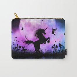 Wonderful unicorn with fairy in the night Carry-All Pouch