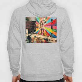 Street Art Mural, Times Square Kiss Recreation Hoody