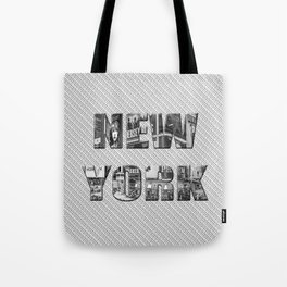 New York (photo filled type on white) Tote Bag