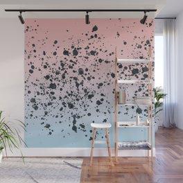 Blue, Blush, Black. Wall Mural