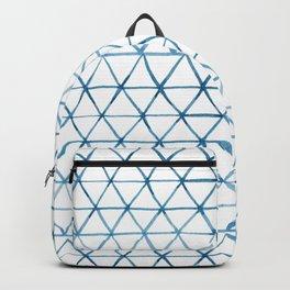 Indigo Geo Triangle Pattern Backpack