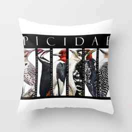 Woodpeckers of North America Throw Pillow