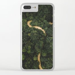 From Above Overview Of Dense Green Forest Clear iPhone Case
