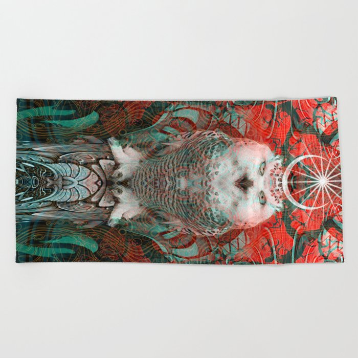 The Owls are Beautiful Beach Towel