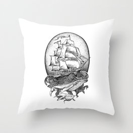 GUIDED BY WHALES Throw Pillow