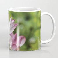 lotus flower Mugs featuring Lotus by Catherine Stuckrath