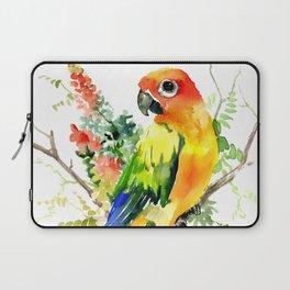 Sun Conure Parakeet, tropical colors parrot art design Laptop Sleeve