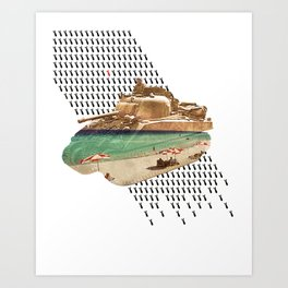 Beach Head Art Print