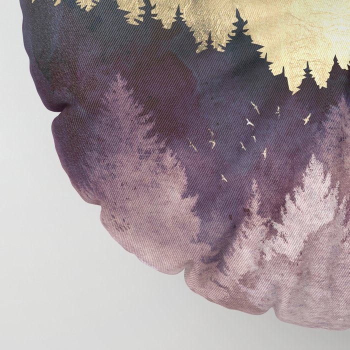 Plum Forest Floor Pillow